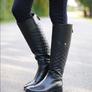 Tory Burch quilted Claremont riding boots size 8